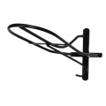 Horse Wall Mounted Saddle Rack - Black