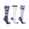 Toggi Bonita Ladies Flower Design Long Socks - 3 PACK