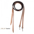 Bueno Leather Western Split Reins With Clips