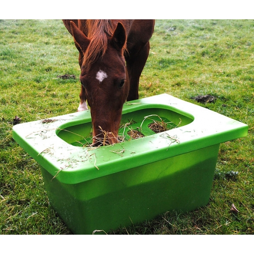 feeder slow hay horses two howitworks sharing grazer htm
