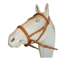 Marjoman Cross Under Leather Bitless Bridle