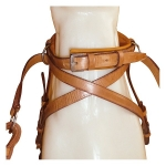 Marjoman Cross Under Leather Bitless Horse Bridle