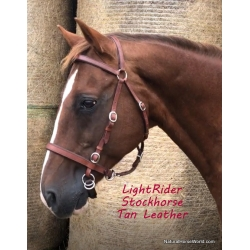 LightRider Leather Stockhorse Bitless Bridle