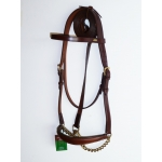 Marjoman Horse Leather Show Halter With Lead Rein