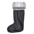 Upland Faux Fur Topped Welly Boot Liners - Pair