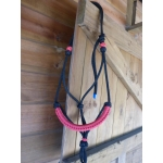 Idolo Pressure Rope Halter With Braided Coloured Noseband