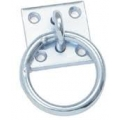 Galvanised Horse Tie Ring With Plate