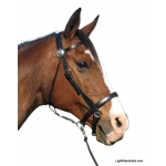LightRider Leather Western Bitless Bridle